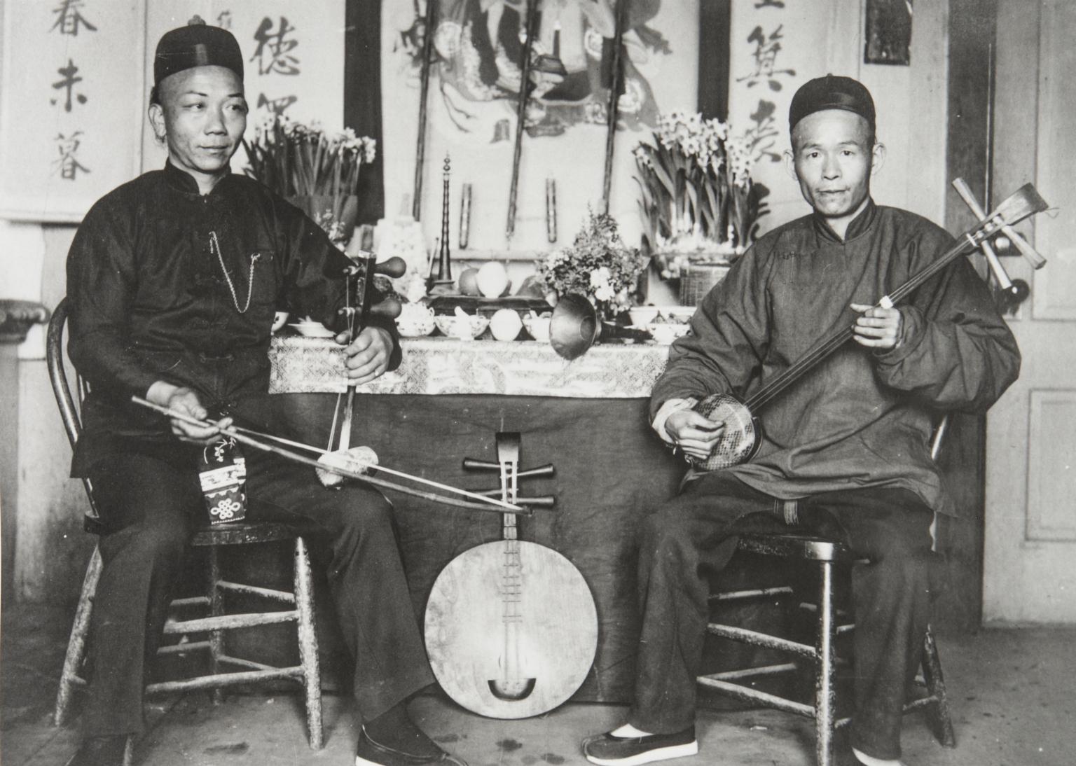 Chinese New Year, Joss House, 15 E. Canon Perdido, Santa Barbara : early 1900s.