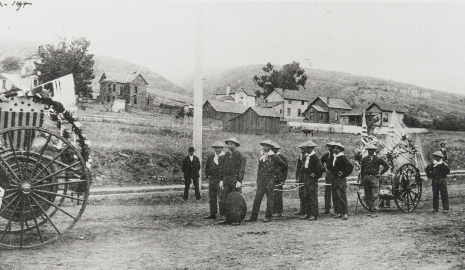 Chinese Fire Company, Ventura Parade : July 4, 1874.