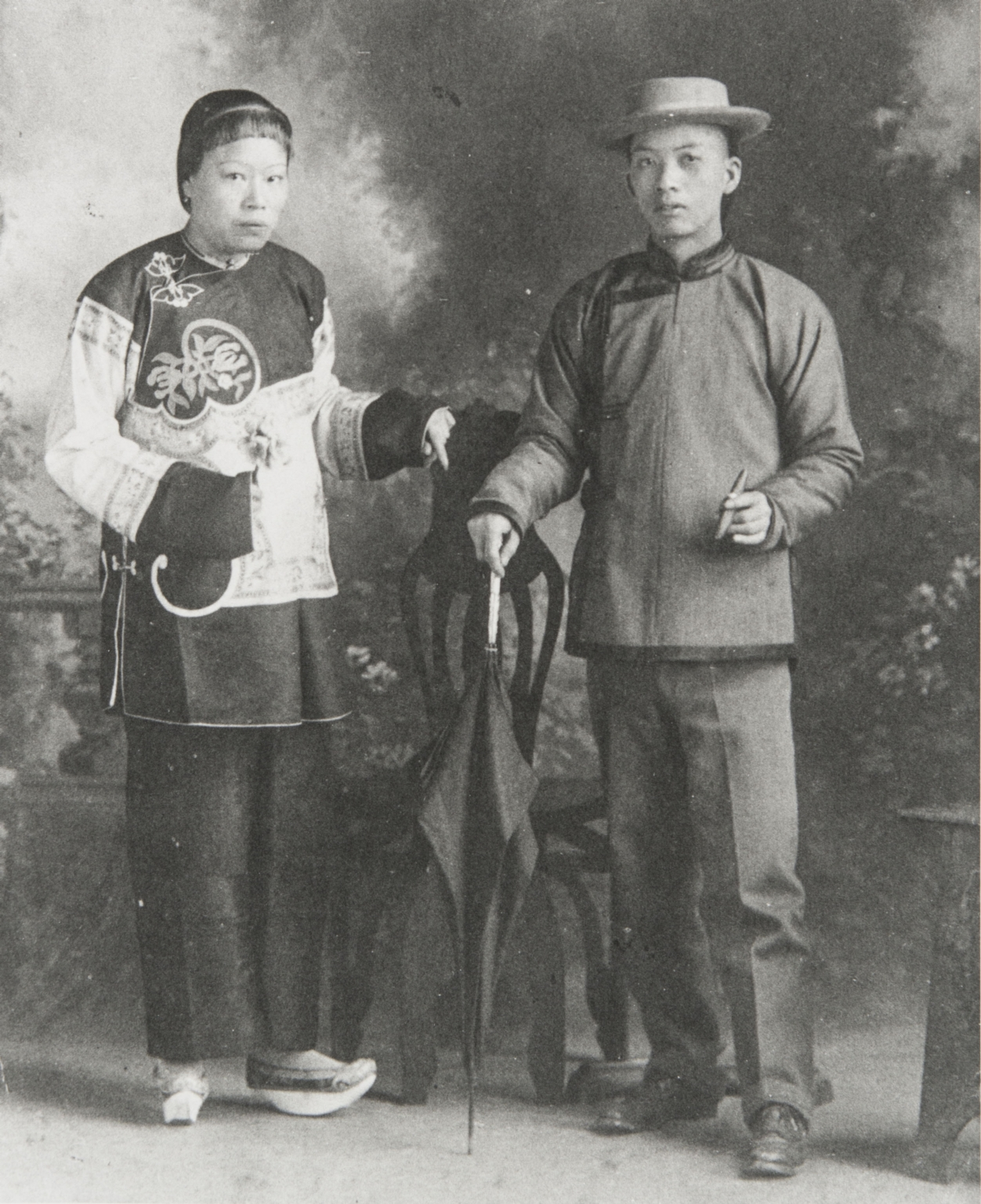 Chinese couple, head cook at Thacher School, Ojai : 1906.