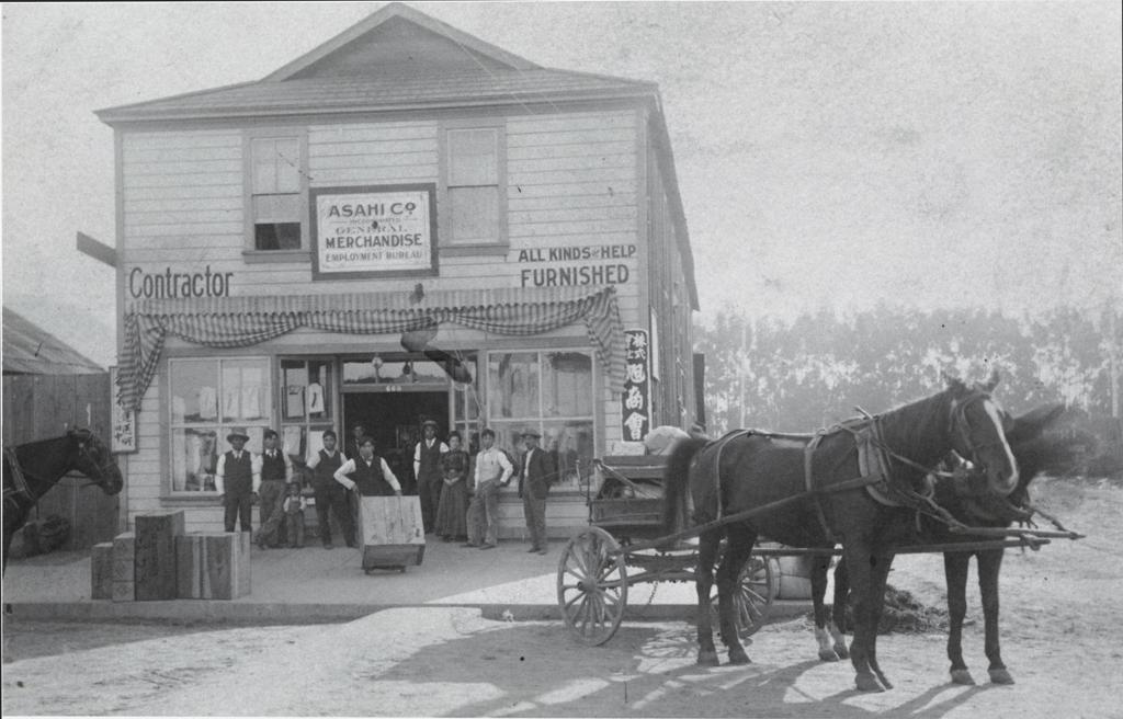 Asahi Market, Oxnard : about 1910.