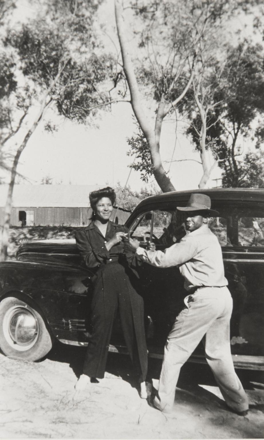 Estar and Roosevelt Campbell, Guadalupe Park : 1946.