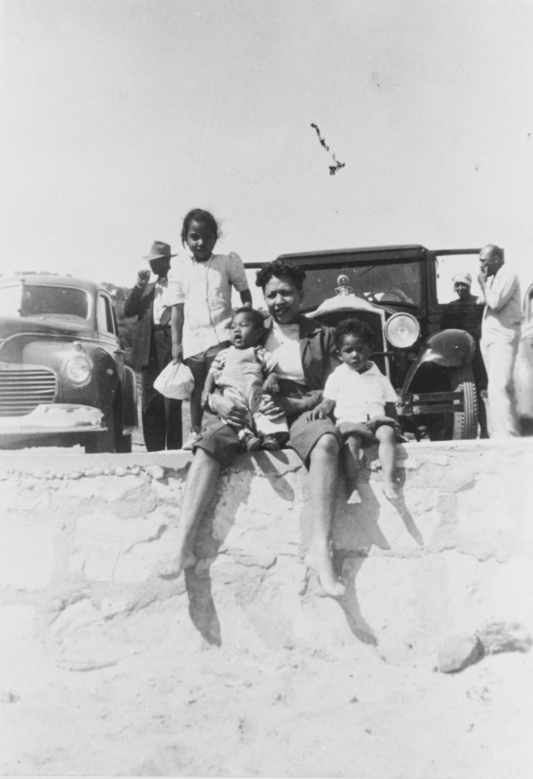 Mrs. Tommie Brown, Roosevelt Campbell, Jr., Avila Beach : 1945.