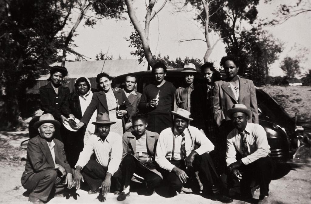 Guadalupe Park : 1946 ; among those present: Estar Campbell, M. and Steve Brown, Lonnie Hamilton, Arthur J. Brown, Ernest Black, Tommie Brown and Ernestine Black.