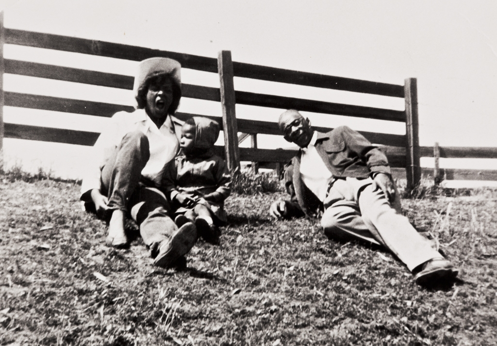 Ranch off Highway 166, Santa Maria : 1955. Juanita Prince, Eddie Mae Foster and Milton Jones.