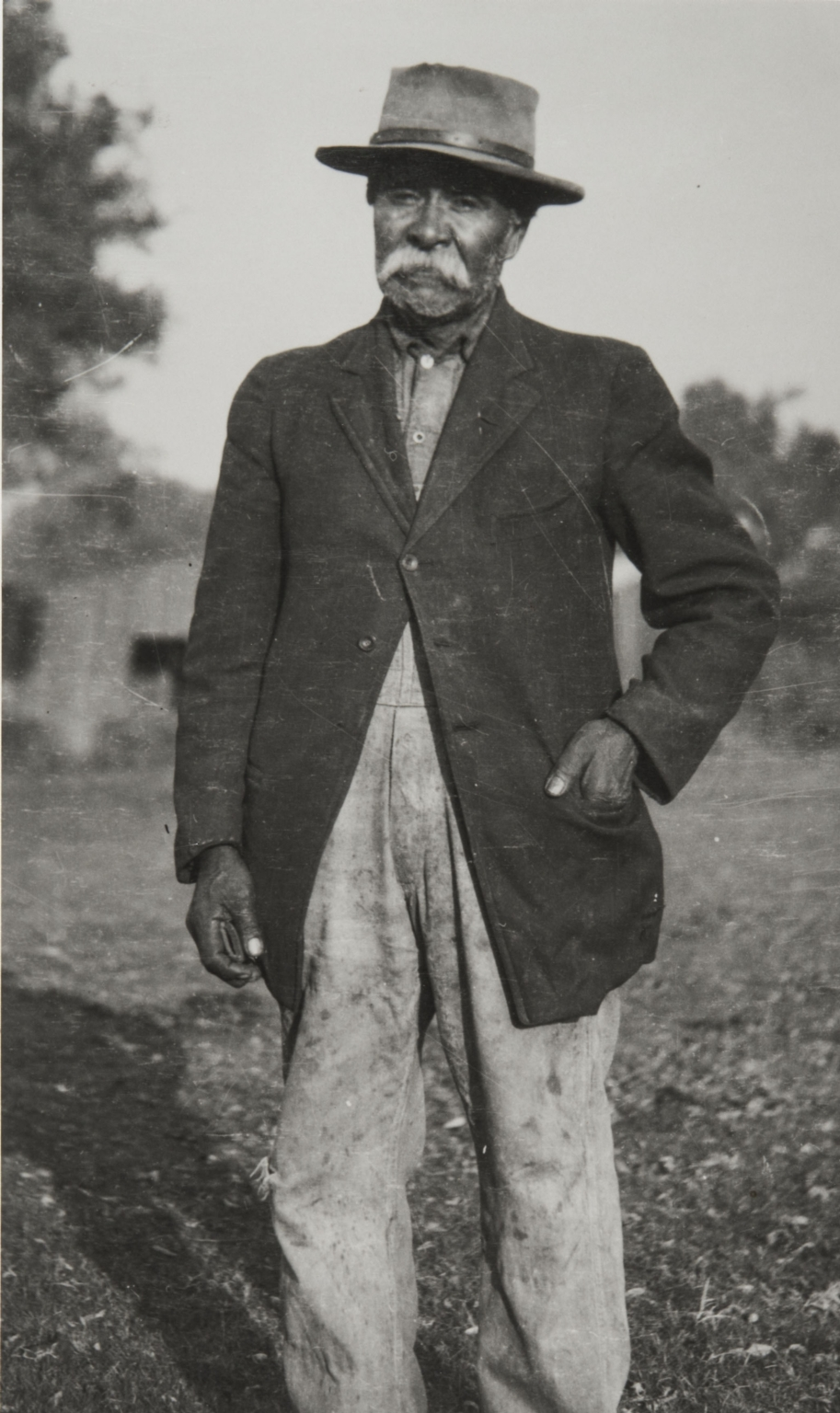 Probably a photograph of Pacifico Gallego : ca. 1916, who worked with John P. Harrington to document the Migueleño Salinan language.