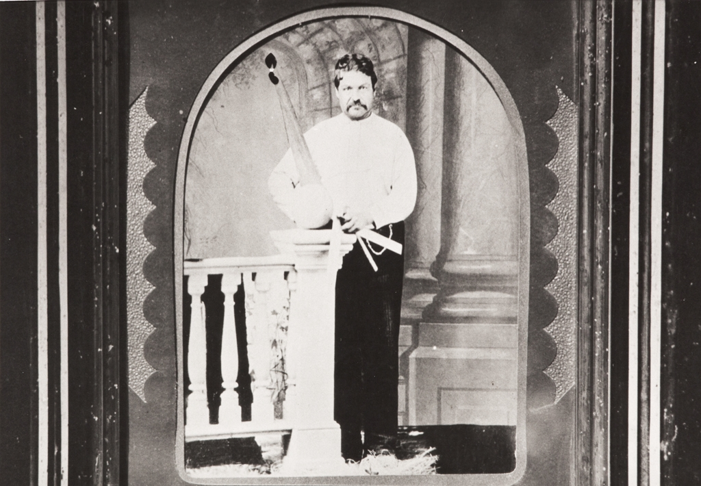 Juan Estevan Pico (1841-1901) with the tools of his profession, carpentry ; Pico took an interest in preserving a record of his native Ventureño Chumash language and developed his own linguistically accurate orthography that surpassed that used by contemporary scholars.