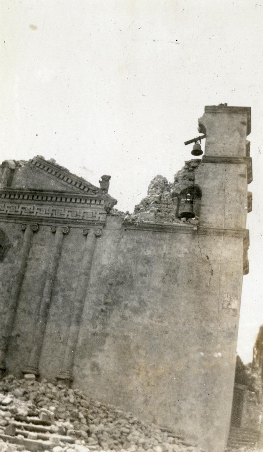 Santa Barbara 1925 Earthquake Damage - Santa Barbara Mission
