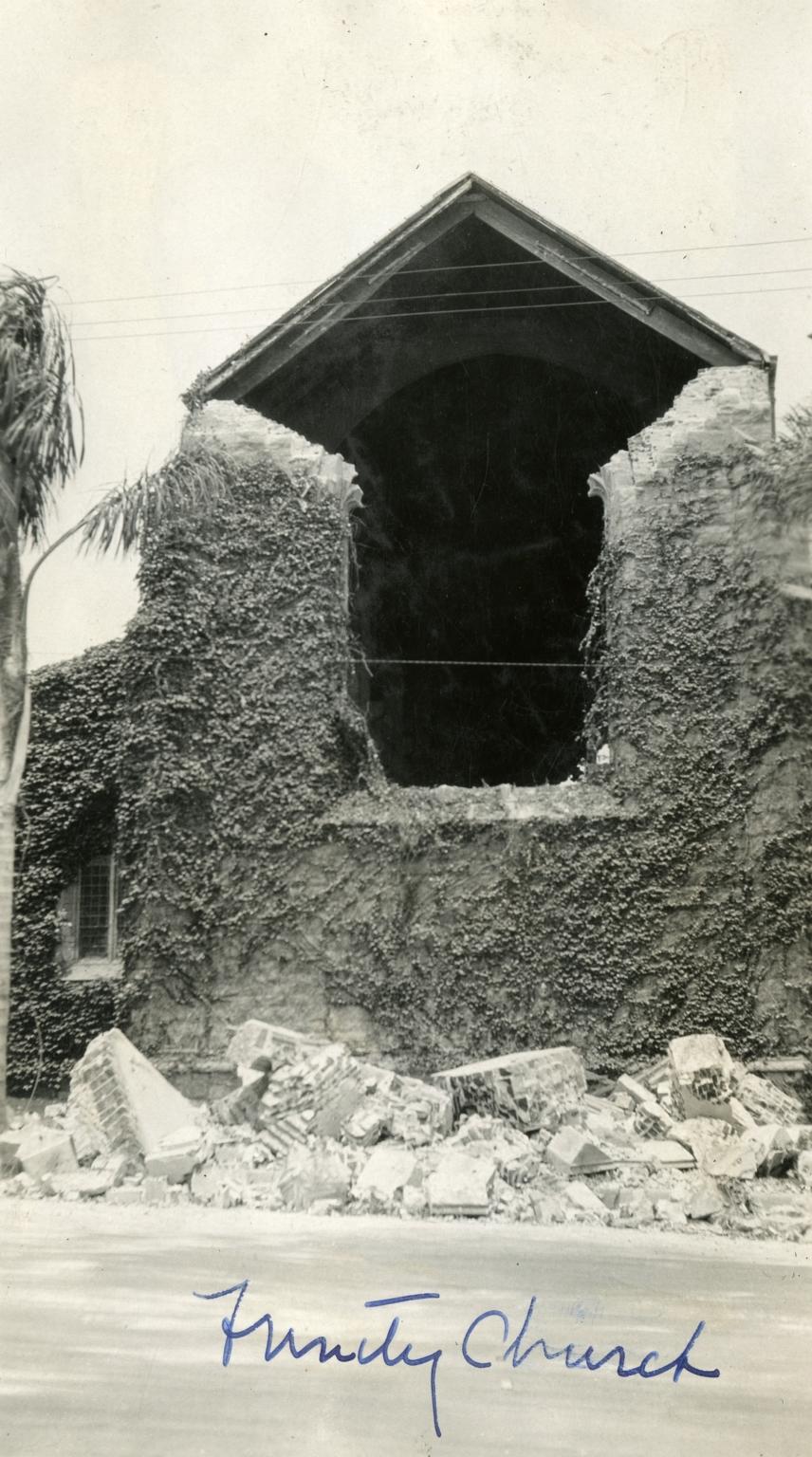 Santa Barbara 1925 Earthquake Damage - Trinity Episcopal Church