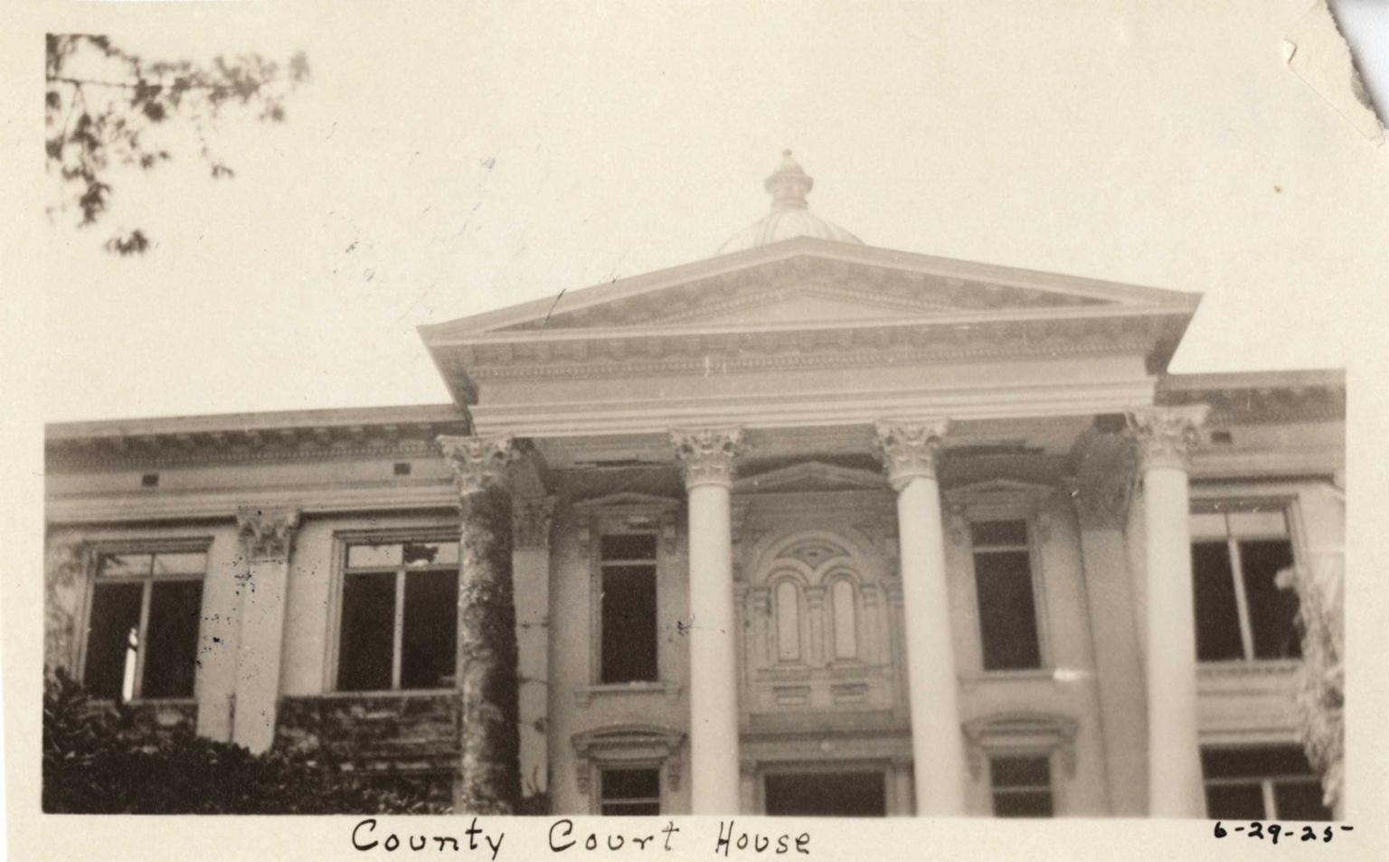 Santa Barbara 1925 Earthquake damage - County Courthouse