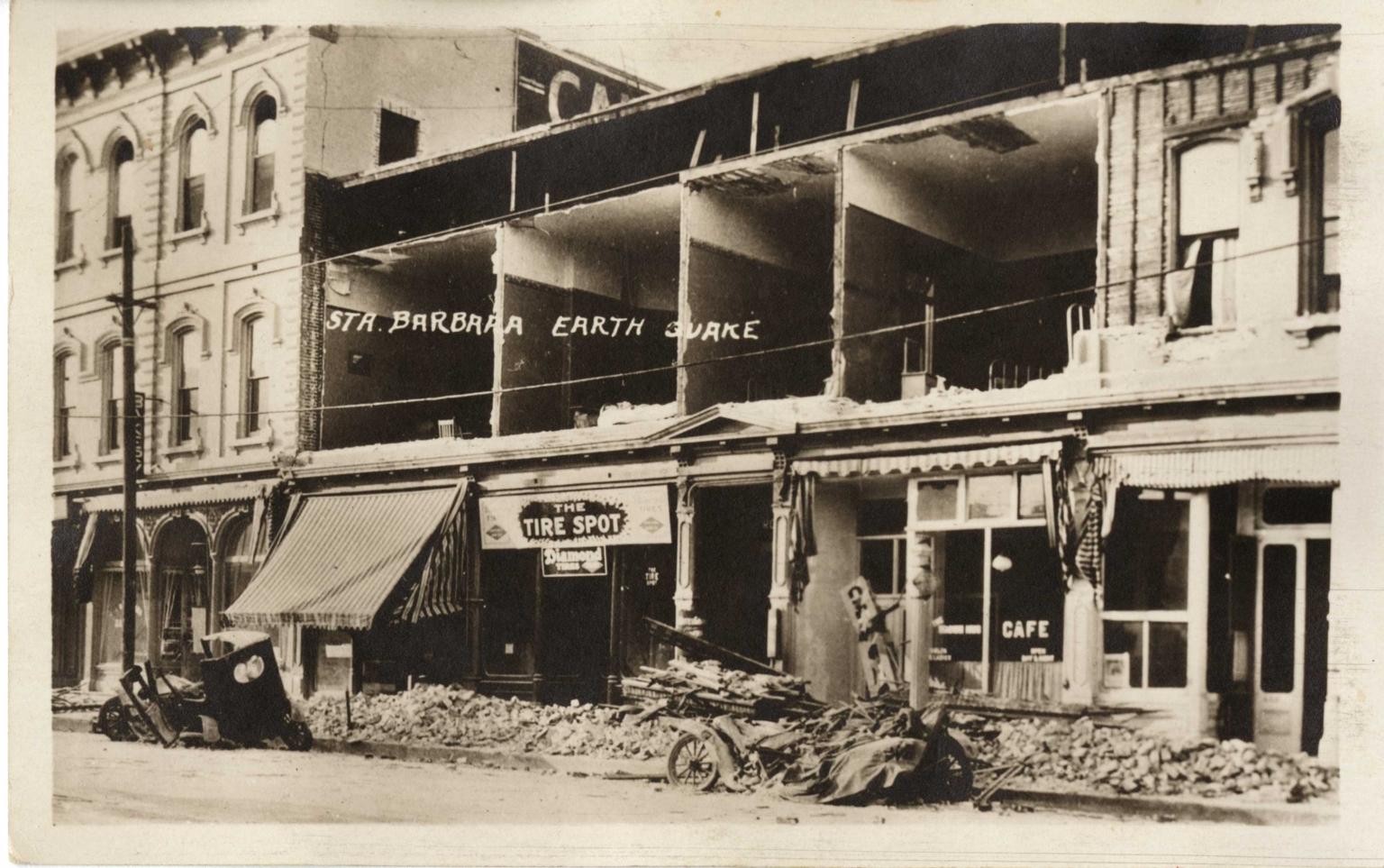 Santa Barbara 1925 Earthquake damage - Grand Hotel
