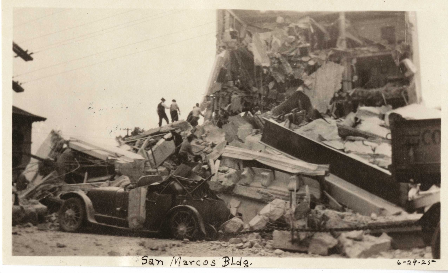 Santa Barbara or Long Beach Earthquake damage