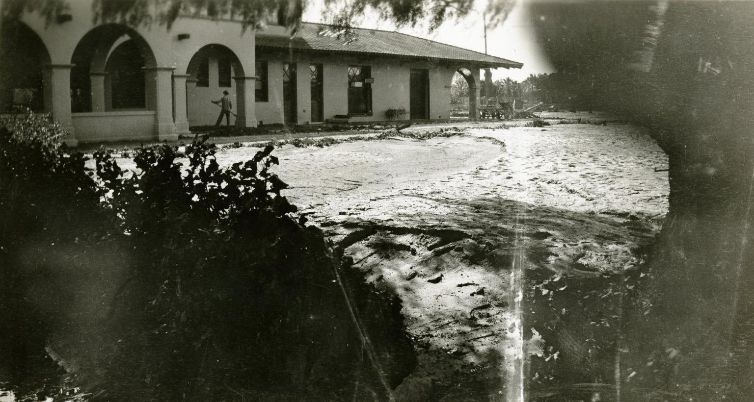 Flood Damage - Train depot, Santa Barbara