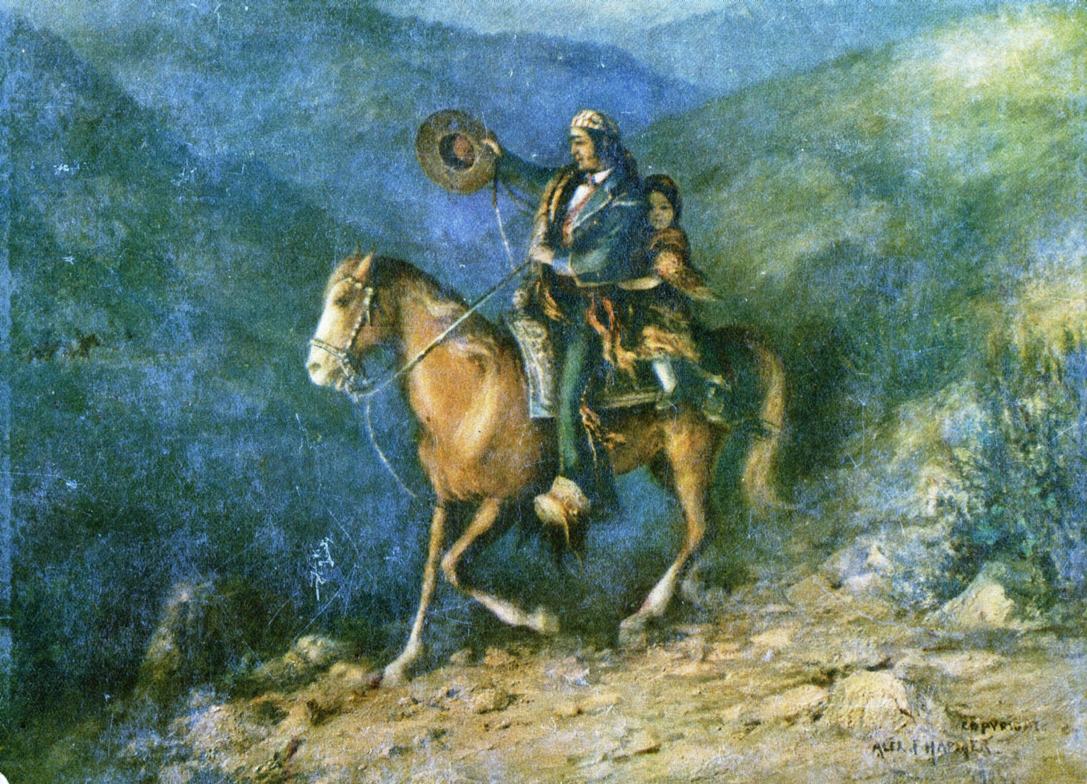 Alexander Harmer Painting Depicting Early California Life