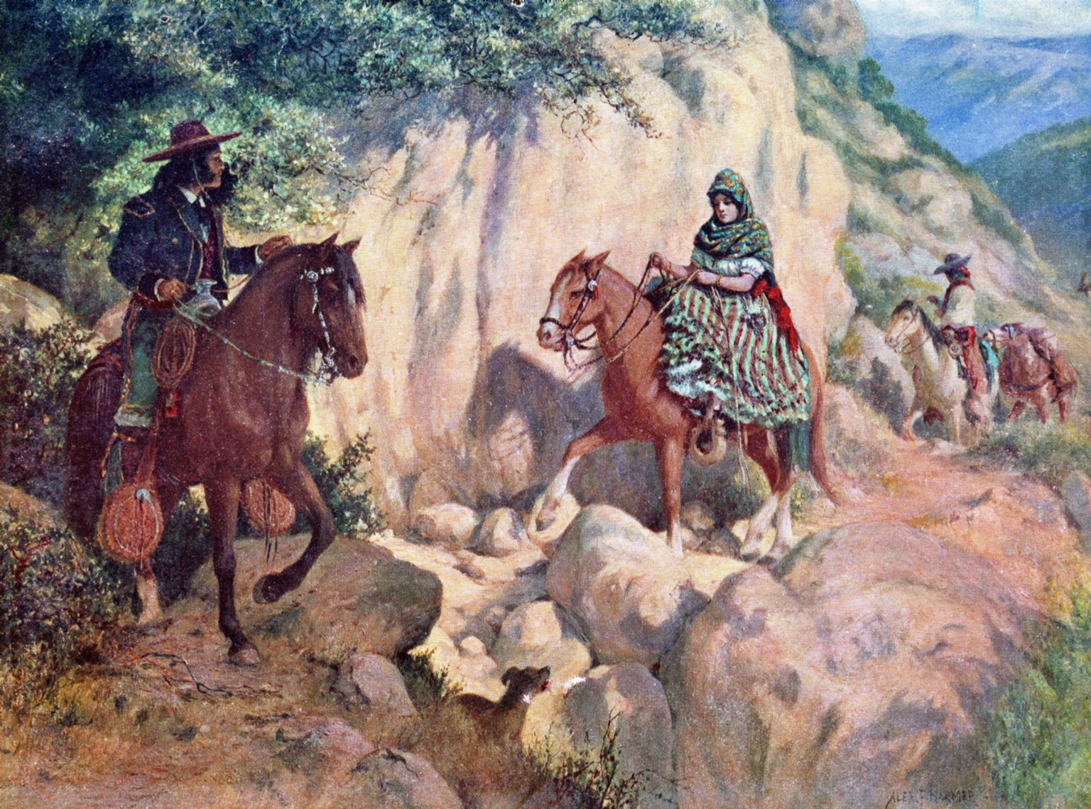 """Alexander Harmer Painting -""""On the Trail to the Summit"""""""