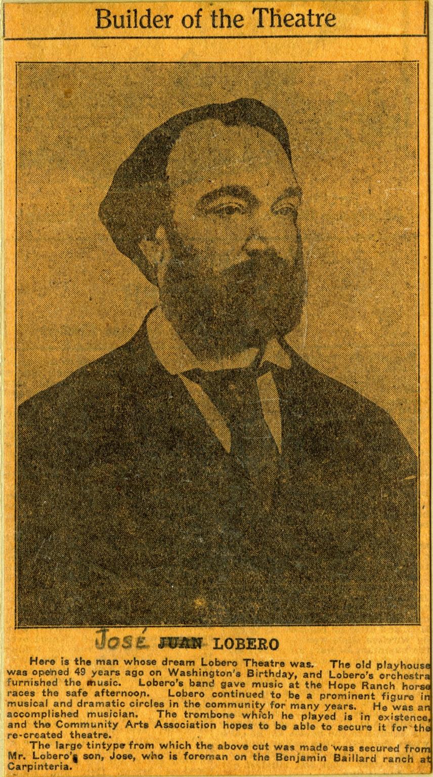 Portrait of Jose Lobero