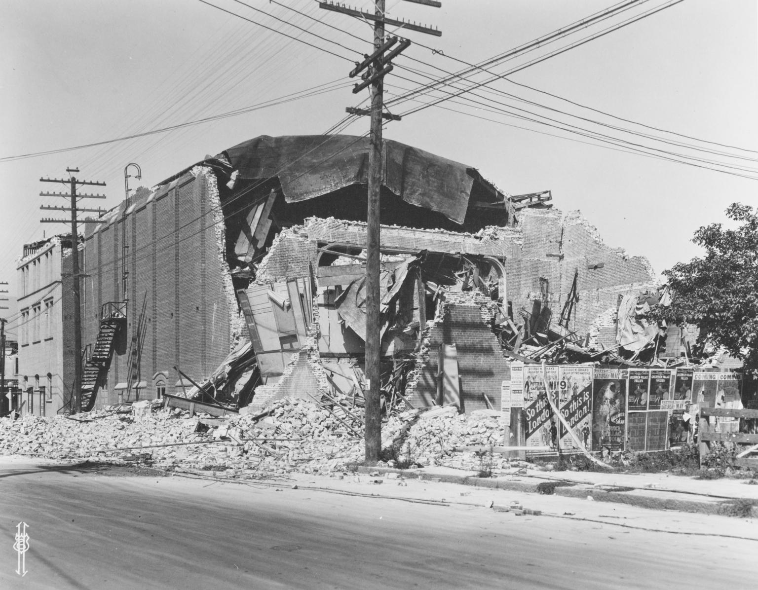 Santa Barbara 1925 Earthquake Damage - Potter Theater