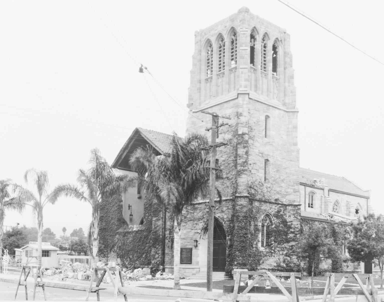 Santa Barbara 1925 Earthquake Damage - Church