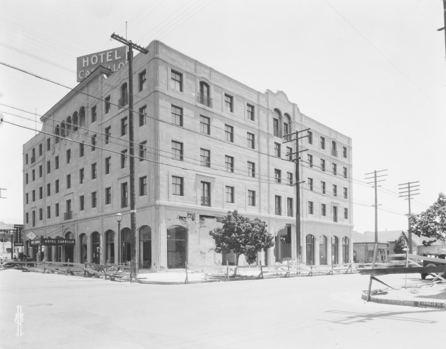 Santa Barbara 1925 Earthquake Damage - Hotel