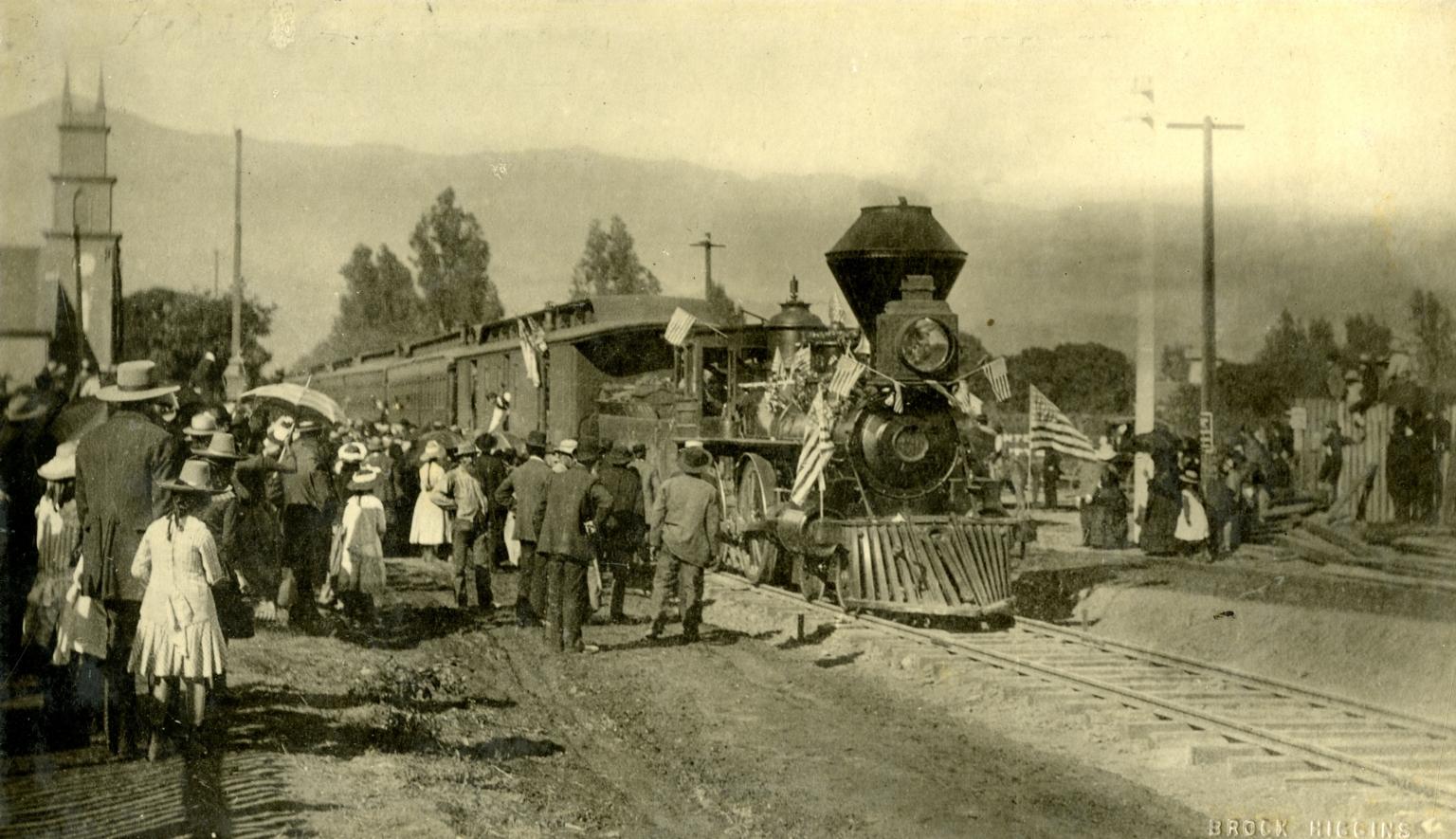 First Train in Santa Barbara