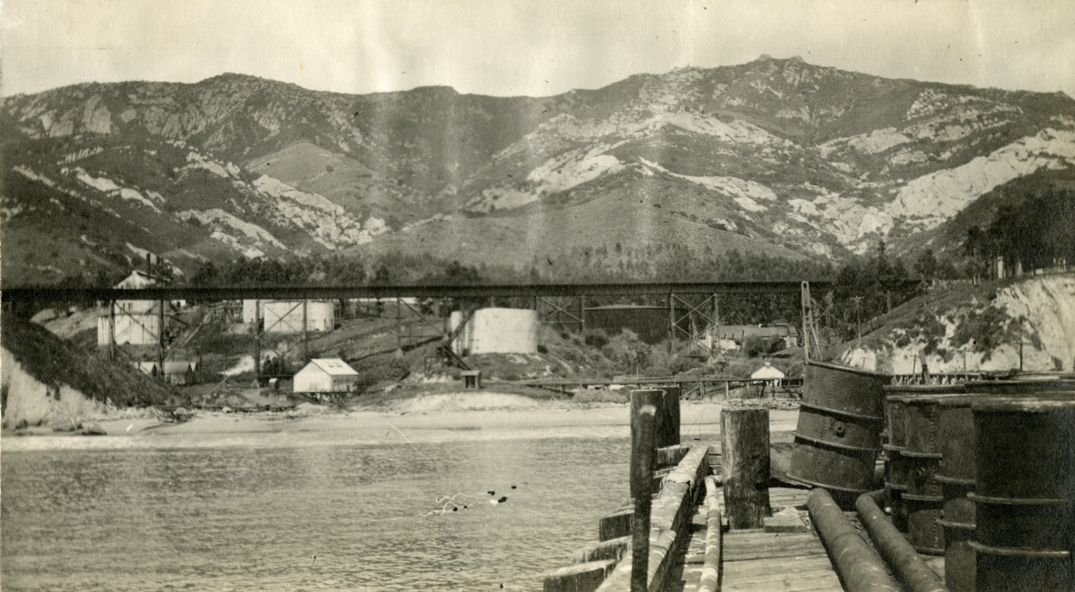 Gaviota Pier and Oil Fields