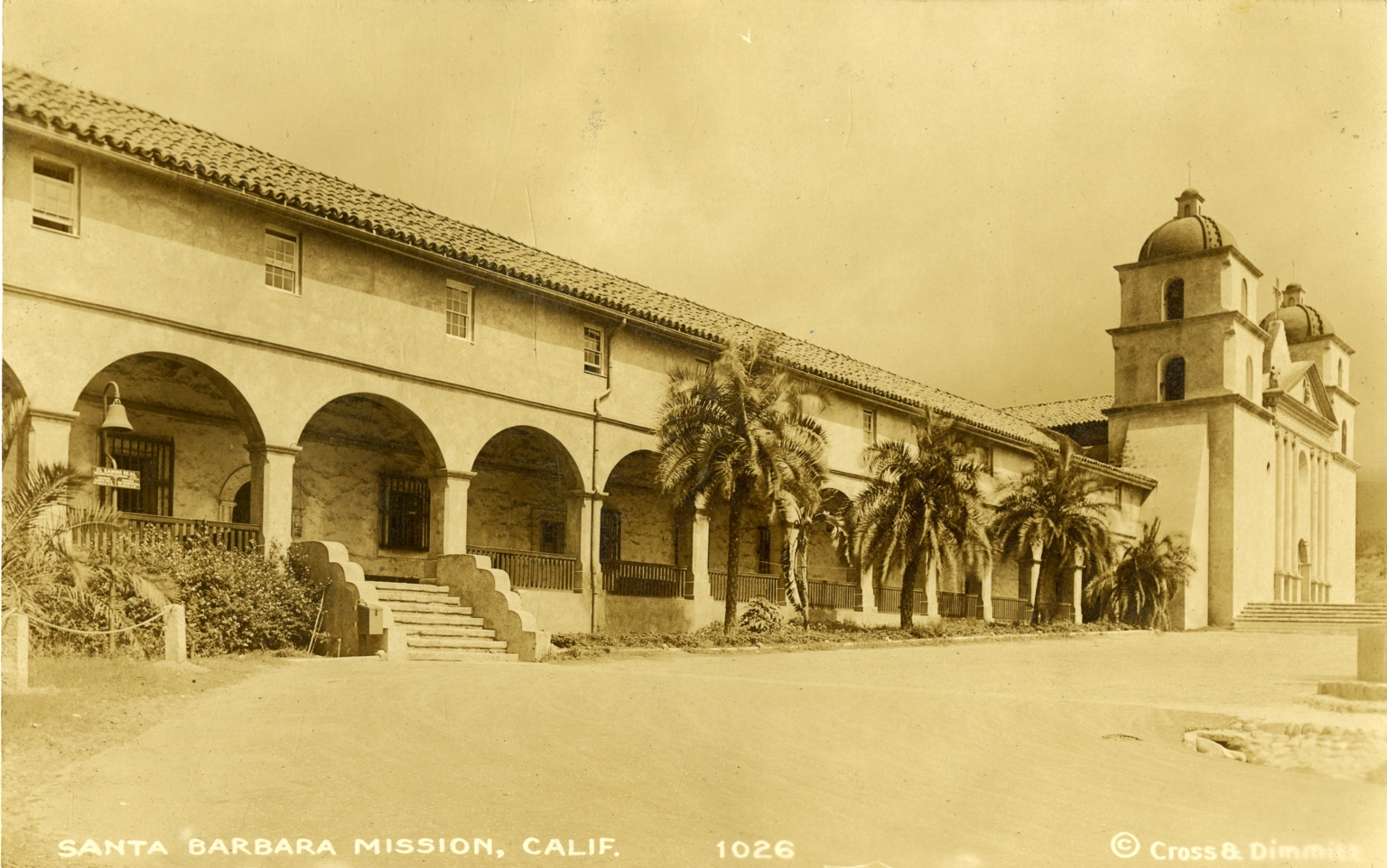Santa Barbara Mission Before 1925 Earthquake